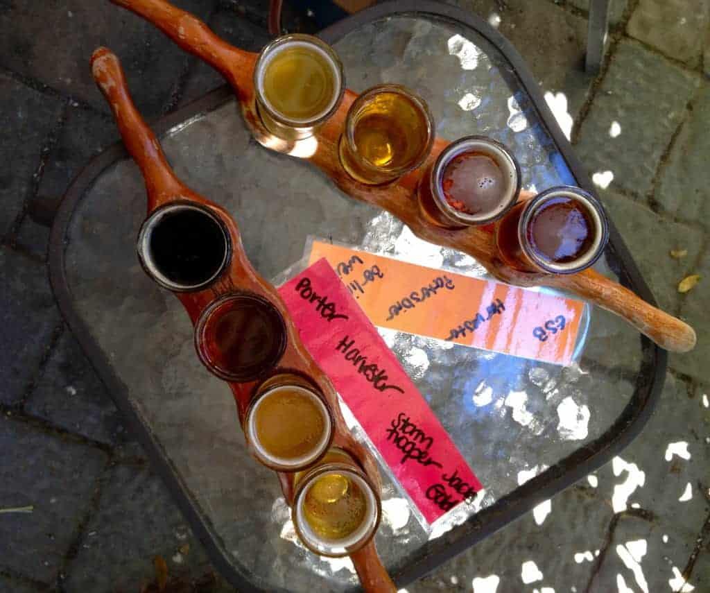 flights at green man brewery asheville brews