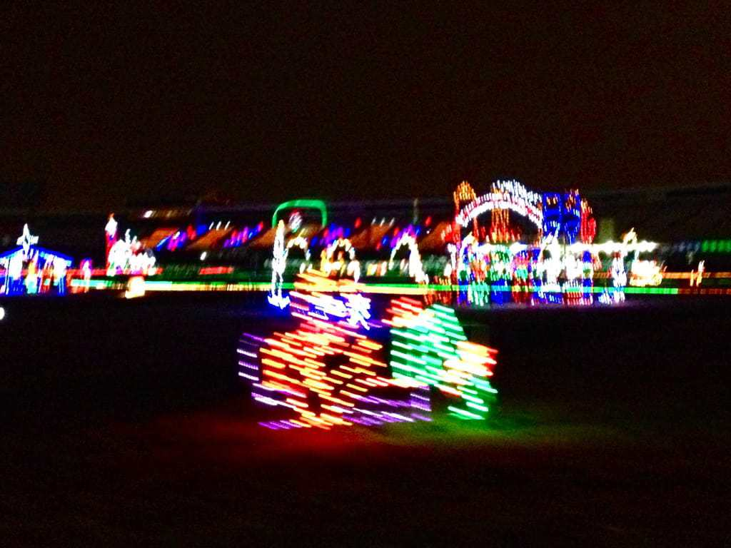 Speedway christmas off the eaten path for Charlotte motor speedway christmas lights nc