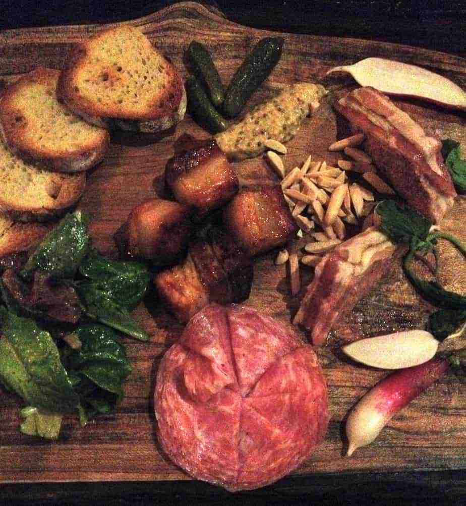 charcuterie board at the market place asheville chews