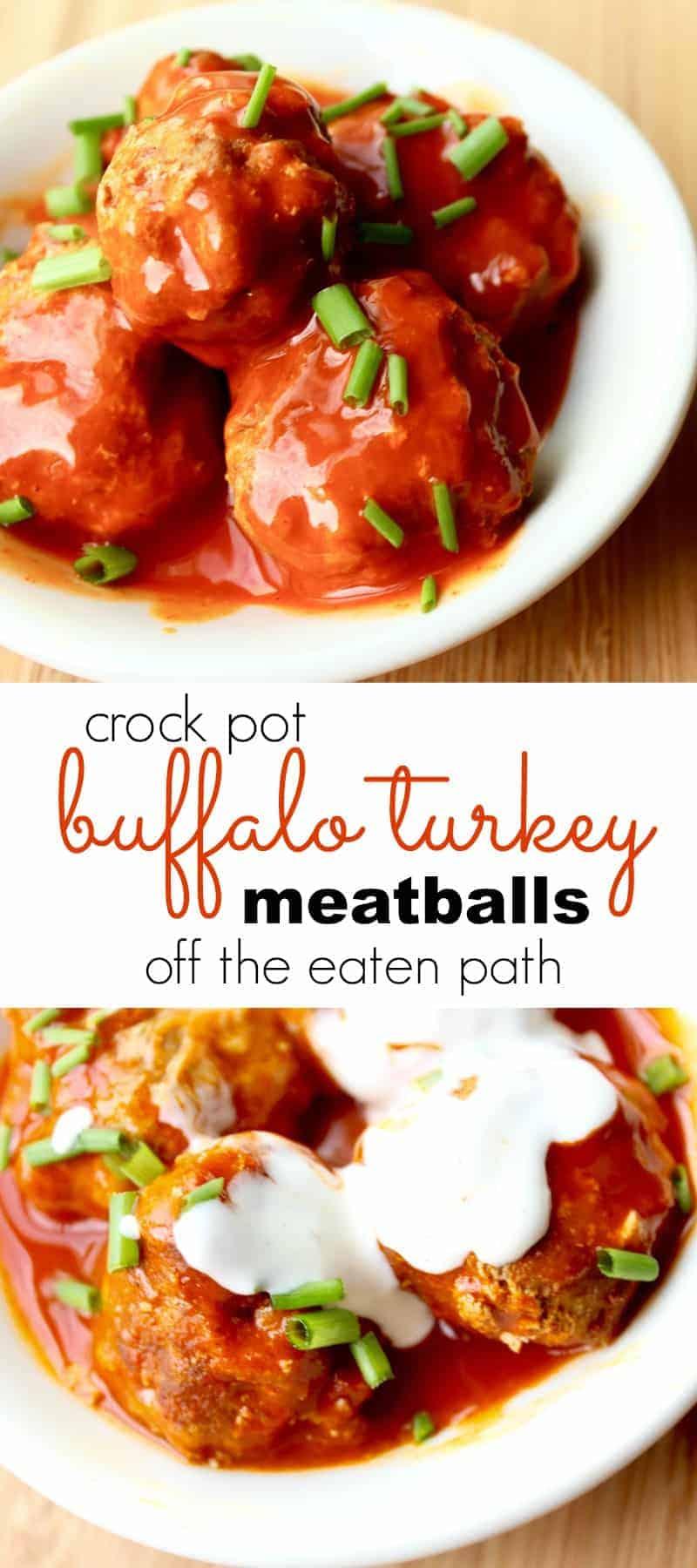 crock pot buffalo turkey meatballs
