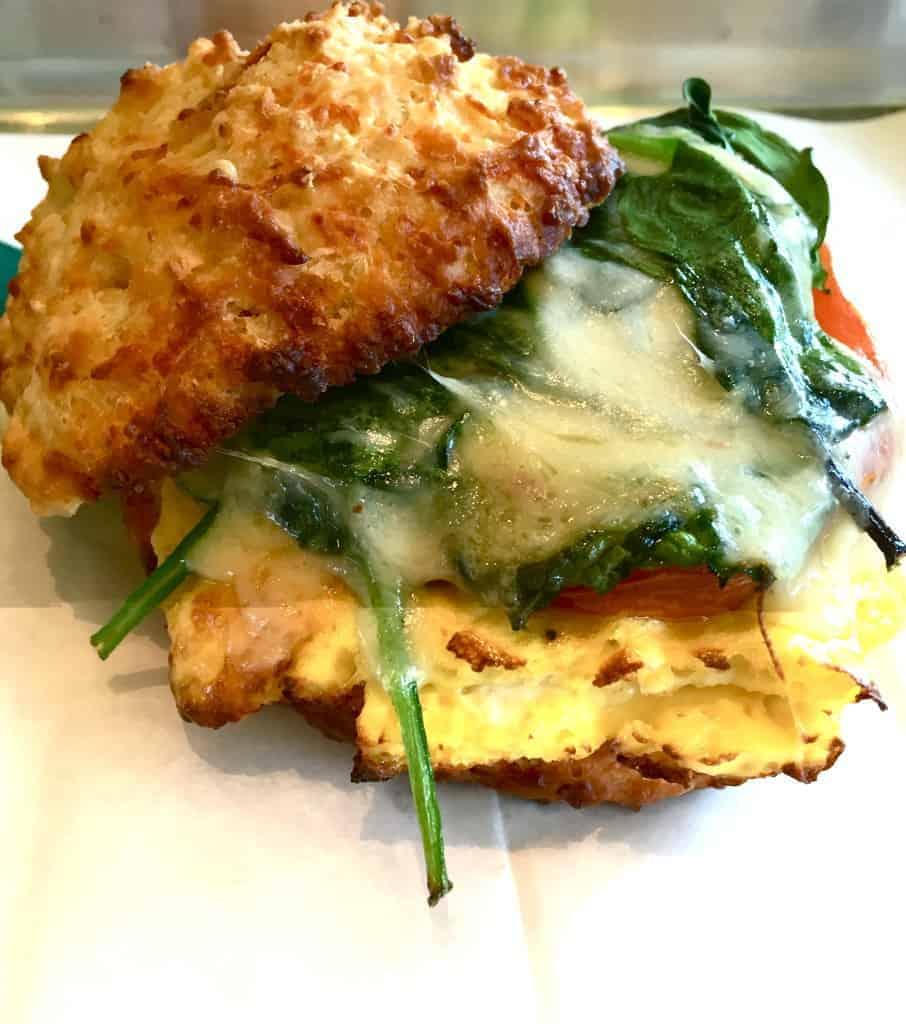 cheddar biscuit breakfast sandwich sunflour baking company