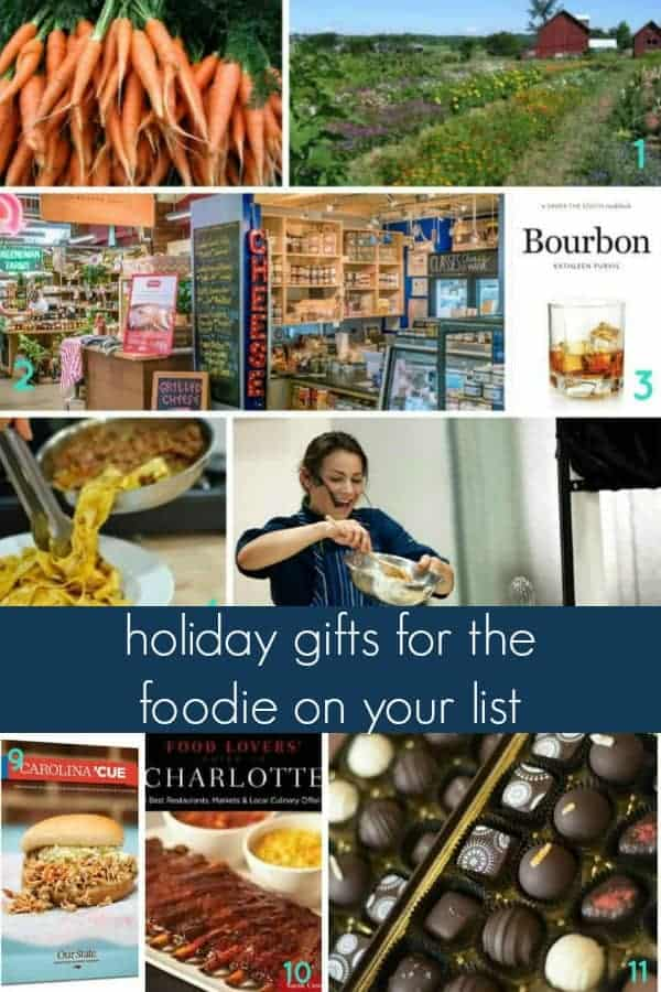 holiday gift guide for the foodie on your list! whether you're shopping for a chef, at home cook, or food lover, this gift guide is perfect for her or for him and features the best easy food gift ideas for christmas including food, products and experiences your foodie will love!
