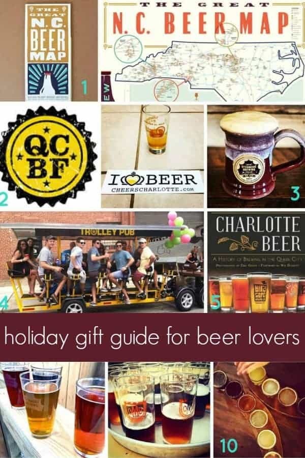 a holiday gift guide for the beer lover in your life! this gift guide has ton of craft beer gift ideas like brewing equipment, brewery tours, experiences, activities, books and of course beer. this guide is essential when shopping for the beer drinker on your christmas list.