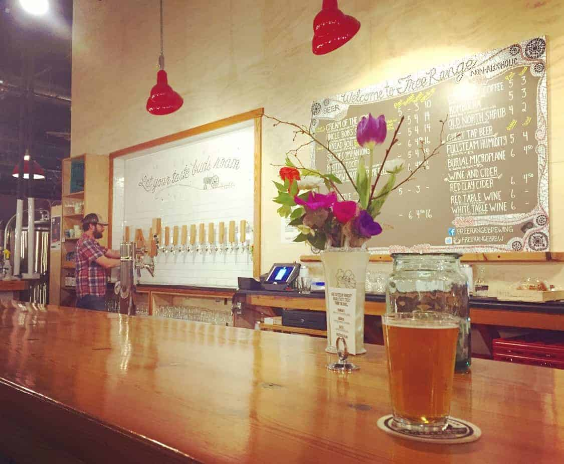 free range brewing taproom best breweries in charlotte