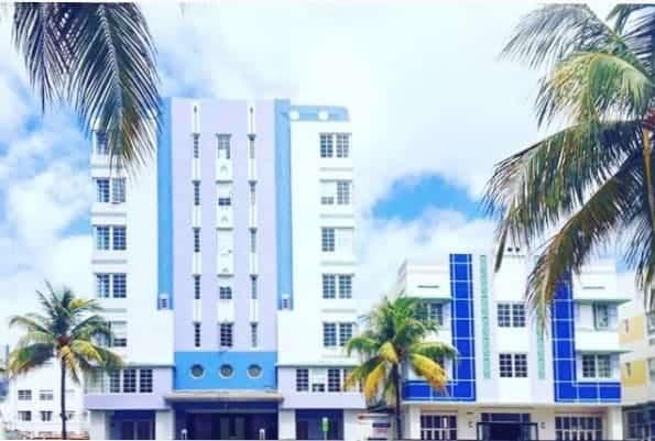 south beach strip of art deco hotels in miami florida road trip