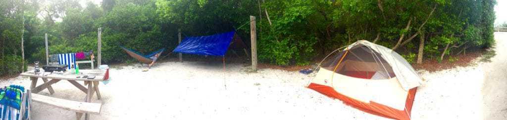 campsite at bahia honda state park for our florida road trip 1 week
