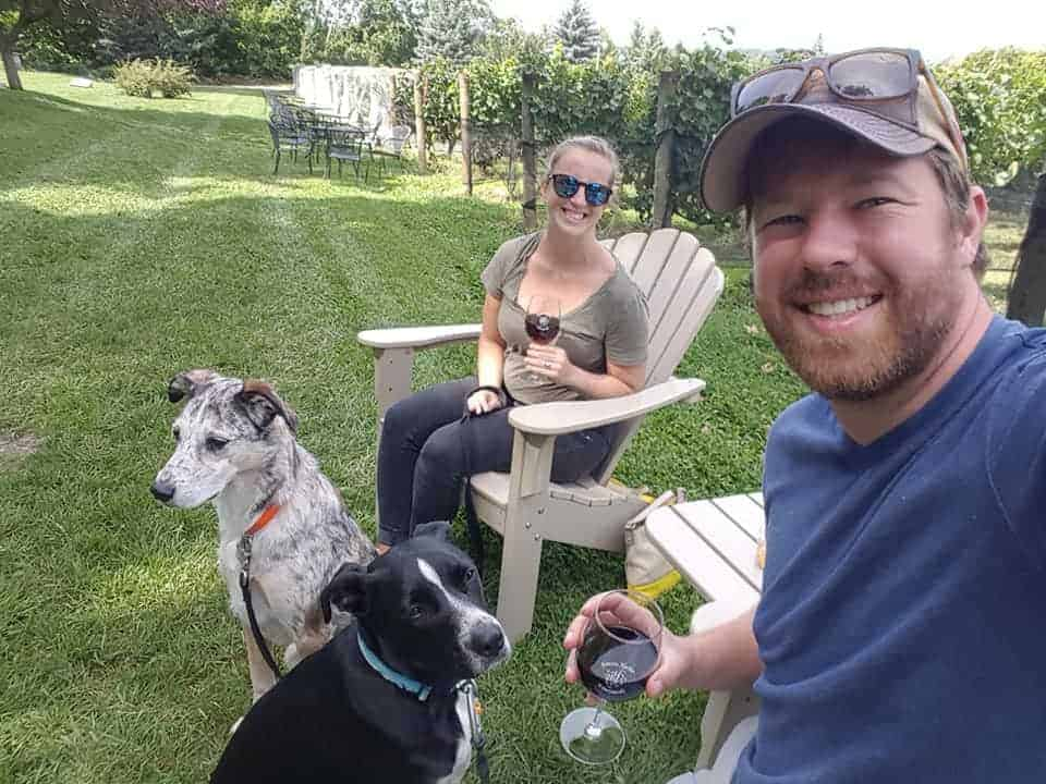 dog friendly wineries nc