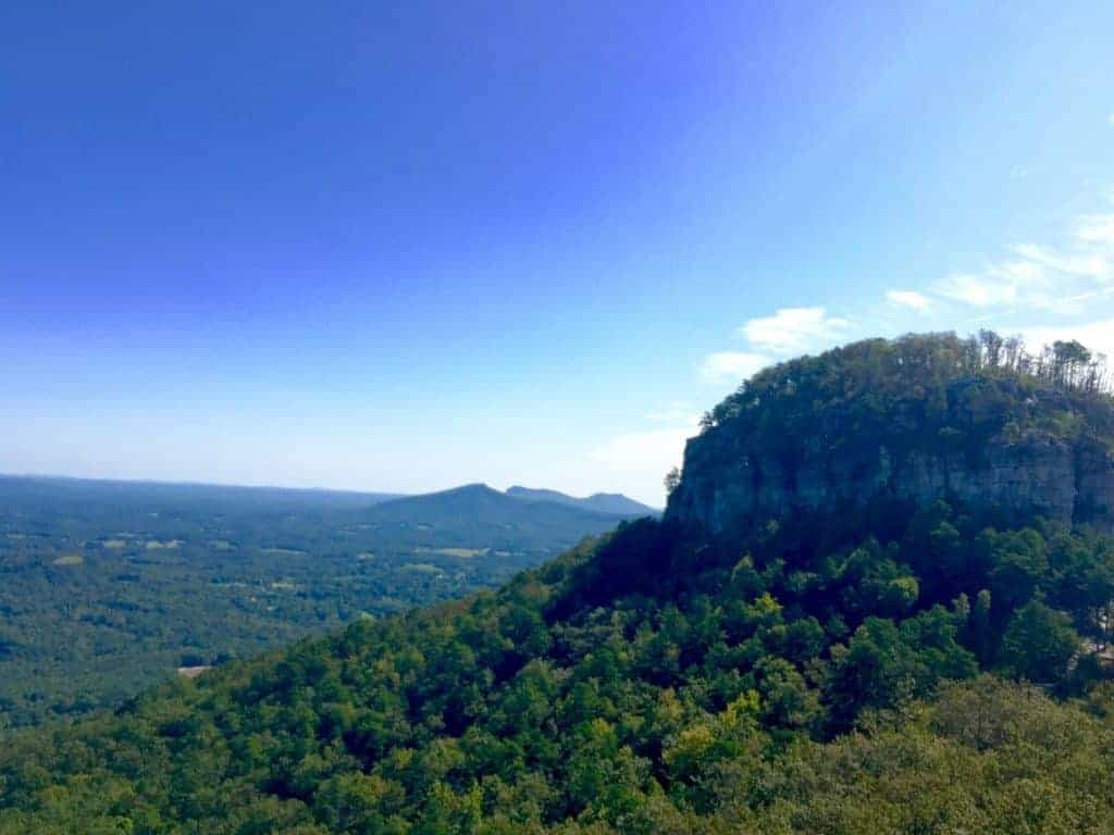 hiking pilot mountain during a weekend visiting north carolina wineries