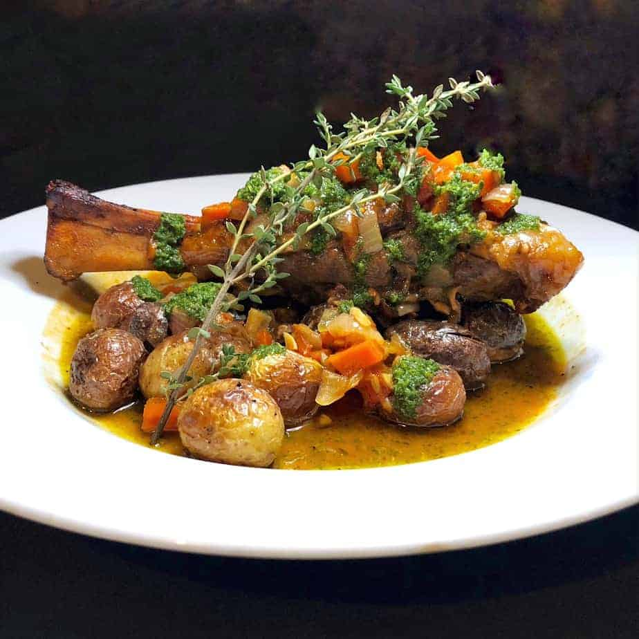 hendersonville restaurants old orchard tavern lamb shank with potatoes