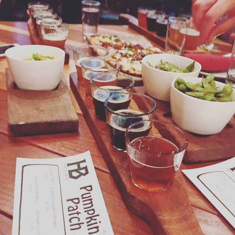 heist brewery flight and food best charlotte breweries