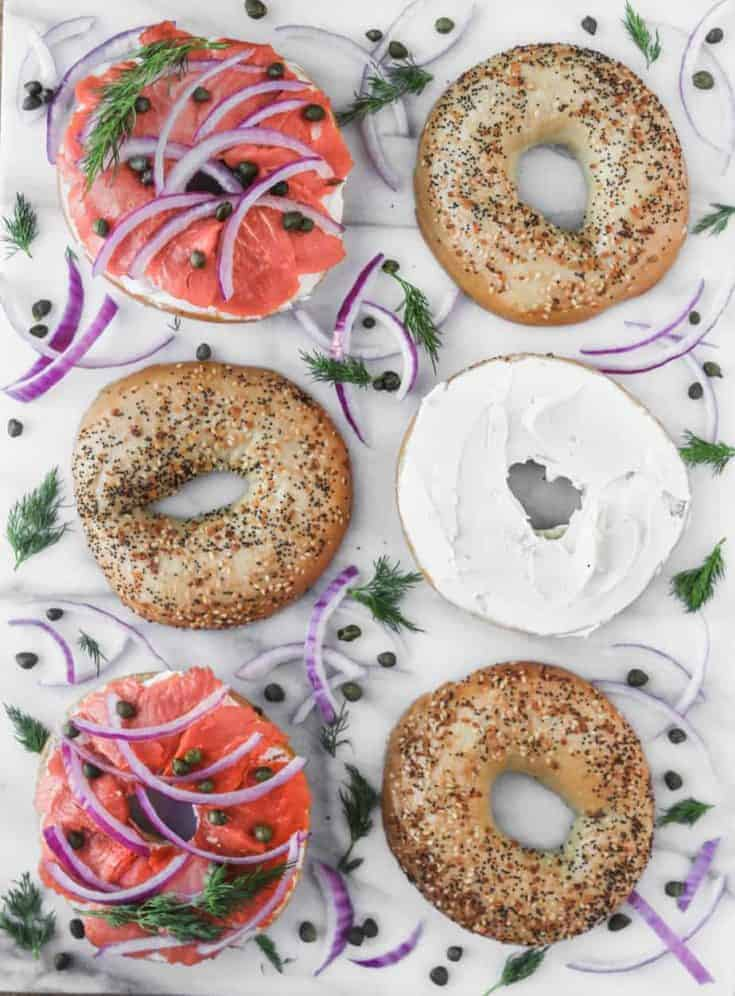 Bagels All The Way Bagels With Lox Cream Cheese Capers