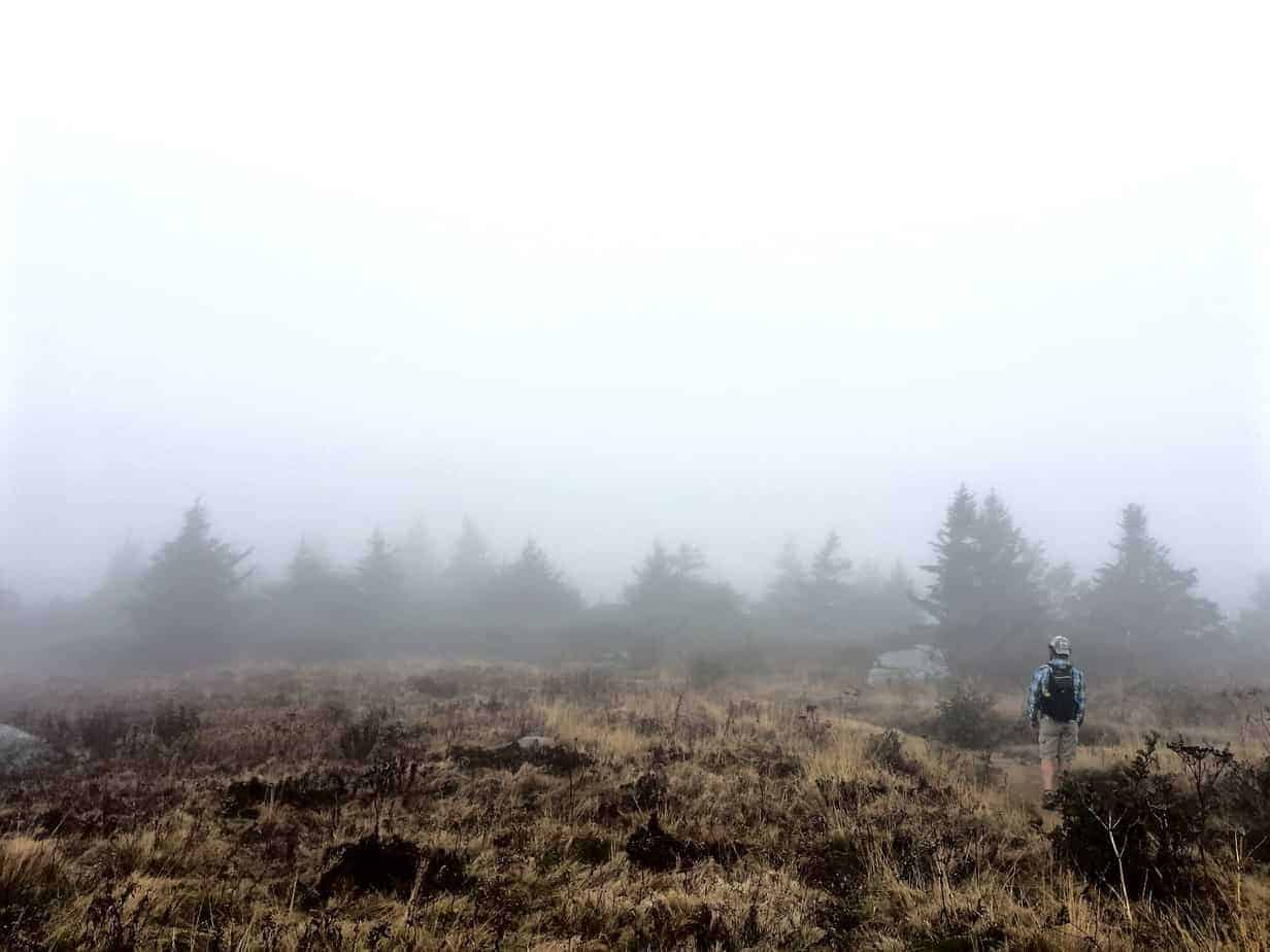 camping cocktails and hiking on a cloudy day in roan highlands
