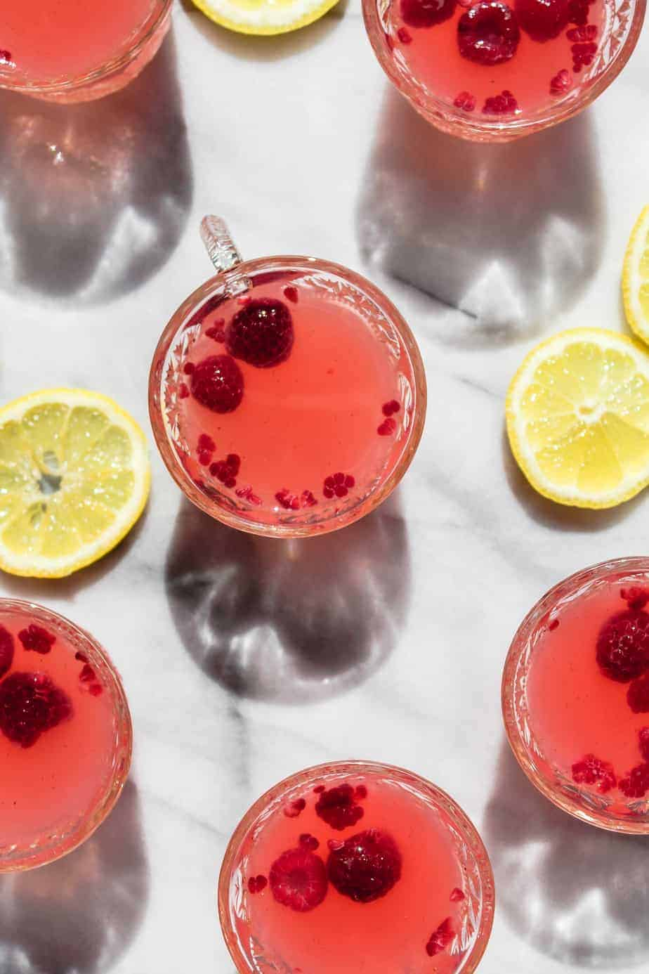 sparkling raspberry lemonade punch vertical