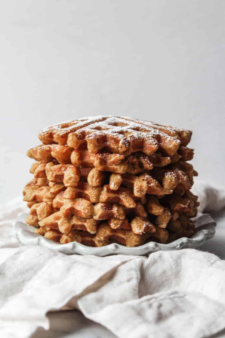 stack of pumpkin waffles
