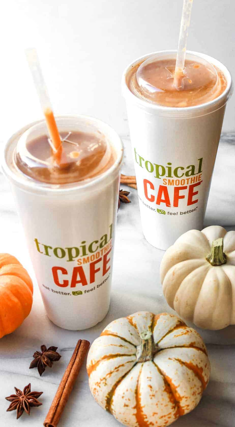 fall smoothies straight on
