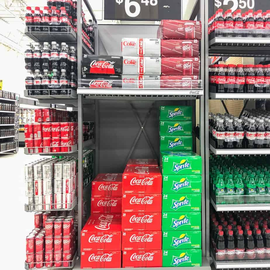 shopping for coke to pair with loaded grilled nachos