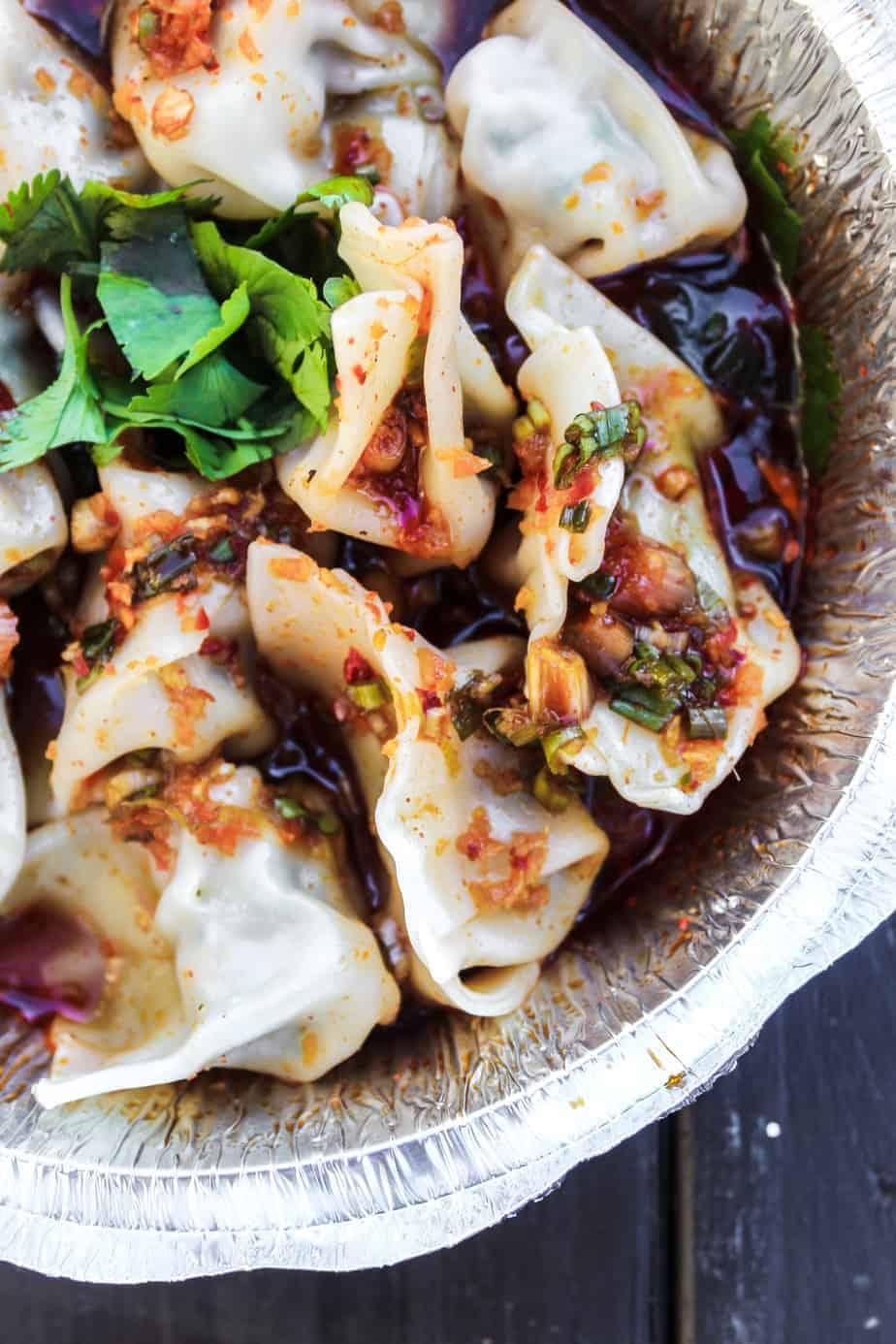 the dumpling lady dumplings close up