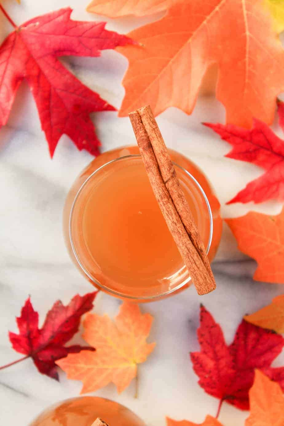 spiked hot apple cider fall cocktail
