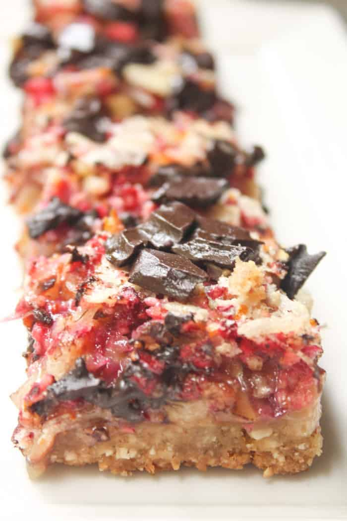 thanksgiving recipe round up cranberry almond coconut bars