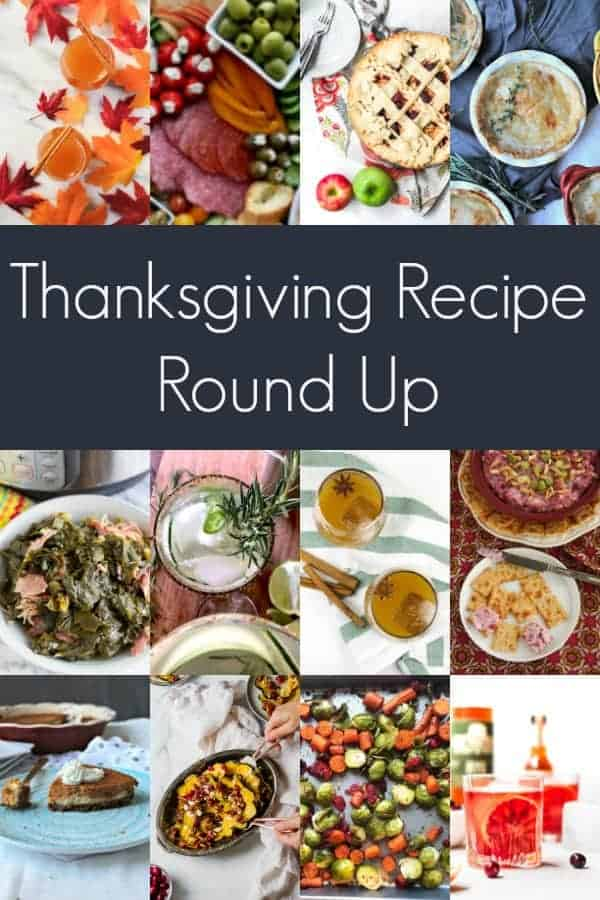 this thanksgiving recipe round up features 23 recipes for your turkey day feast! appetizers, sides, desserts, drinks, cocktails and what to do with your leftovers are included, plus recipes to make ahead of time, healthy recipes and plenty of pies.