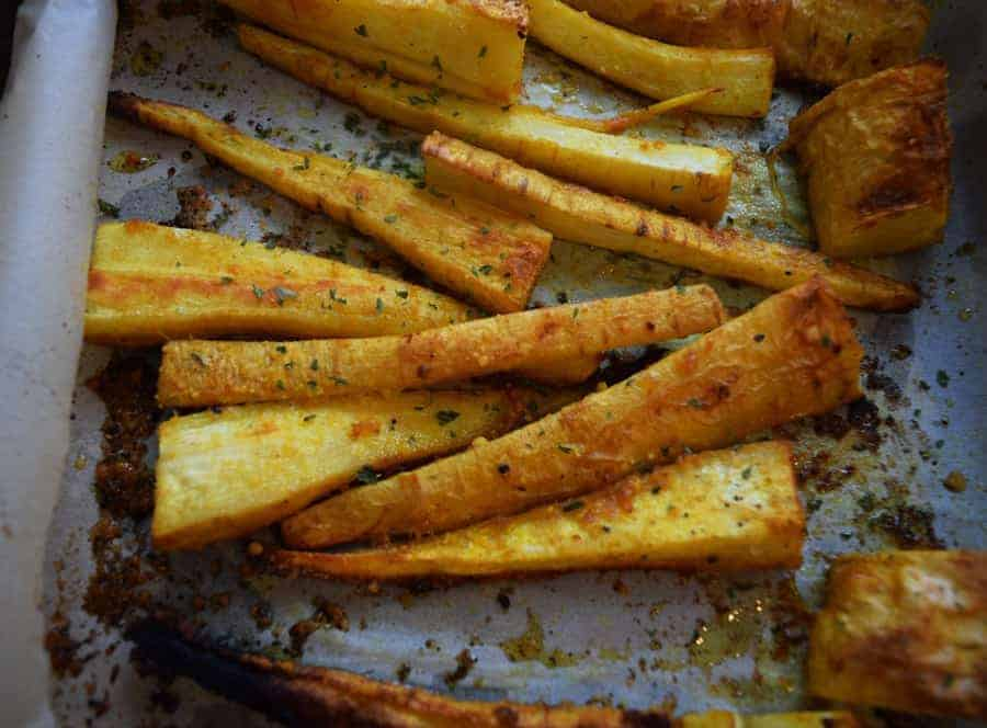 thanksgiving recipe round up turmeric parsnip fries