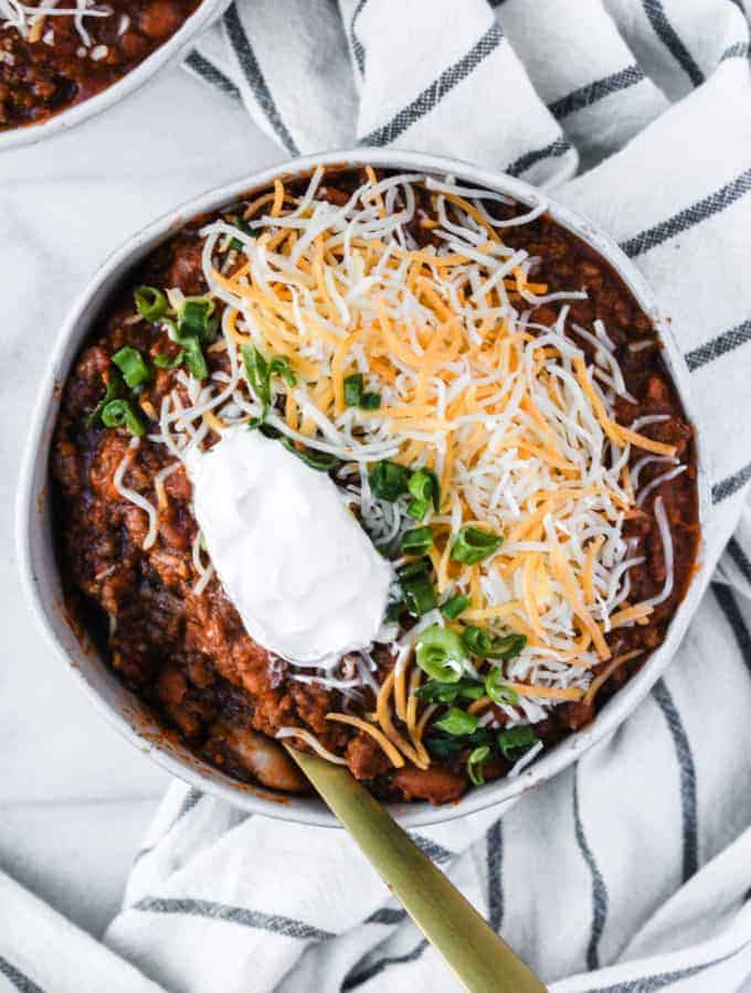 mom's award winning chili recipe single bowl