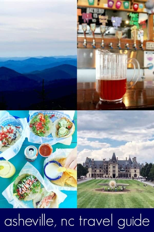 this asheville travel guide covers all the things to do in asheville, nc: where to stay (including hotels, cabins, AirBNB, glamping and more), what to eat, the breweries, our favorite hiking, exploring downtown, the biltmore and more! asheville is the perfect budget friendly travel destination in the United States that must be on your bucket list!