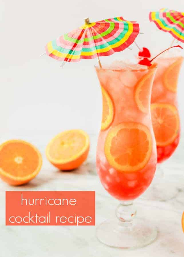 this hurricane drink recipe is the perfect cocktail for your mardi gras celebration! the easy cocktail is inspired by the flavors of new orleans and with one sip you'll instantly be transported to bourbon street in the big easy!