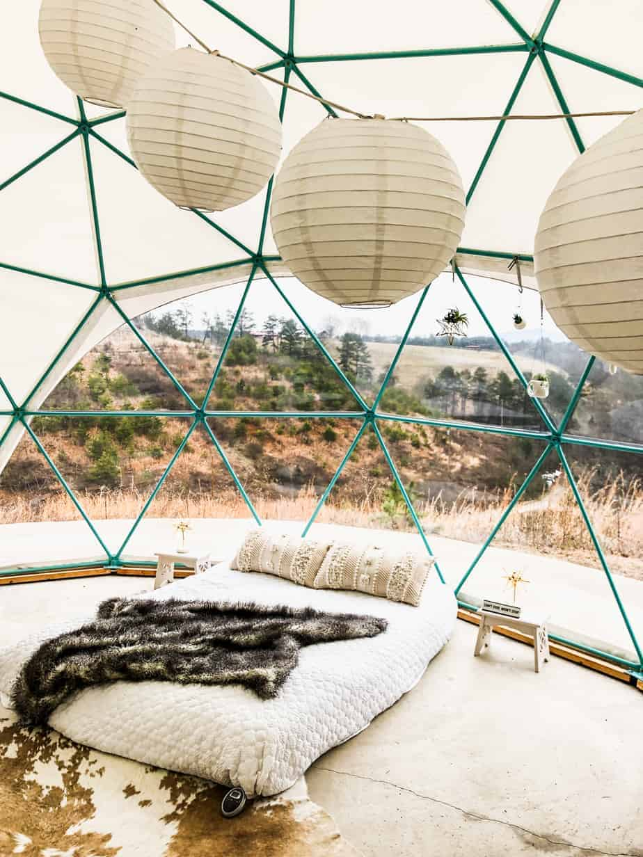 the pros and cons about asheville glamping: domes
