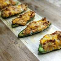 Keto Barbecue Chicken Stuffed Jalapenos