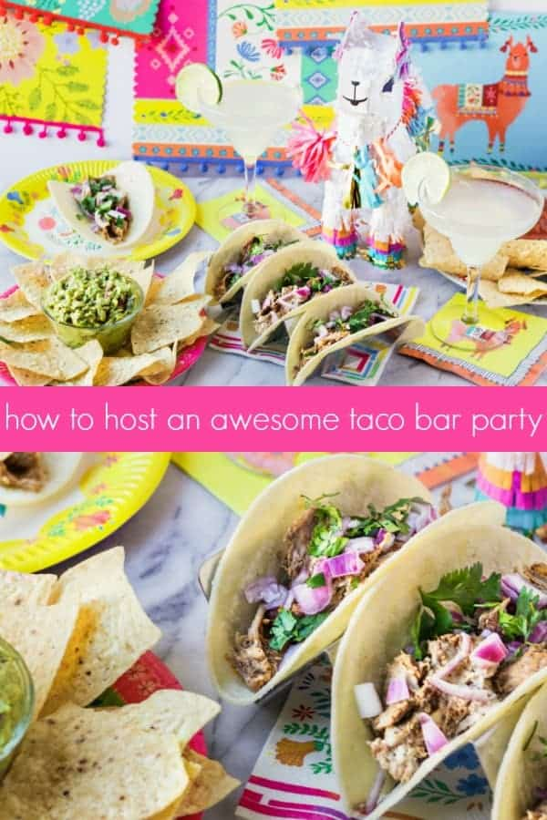 9f6c48c2 A taco bar party is an easy and fun way to feed a crowd for any occasion!  For your upcoming Cinco de Mayo fiesta, birthday parties or summer soirees,  ...