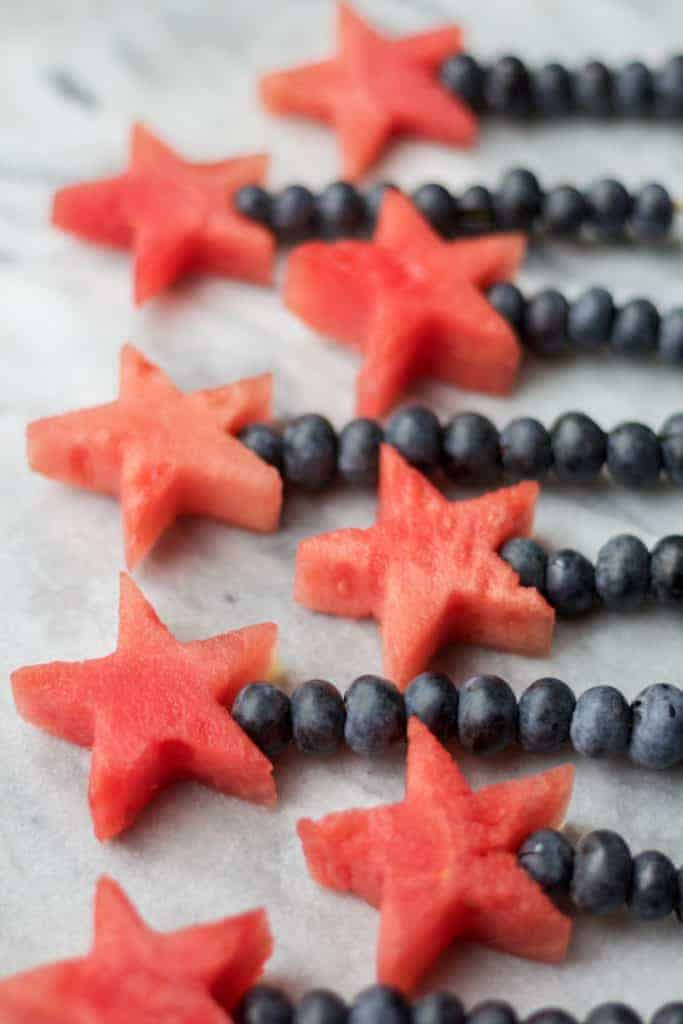 fruit sparklers memorial day cookout recipe appetizer