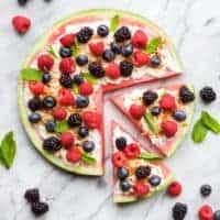 Fresh Watermelon Dessert Pizza Recipe
