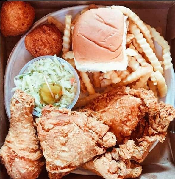 fried chicken platter at price's chicken scoop in charlotte