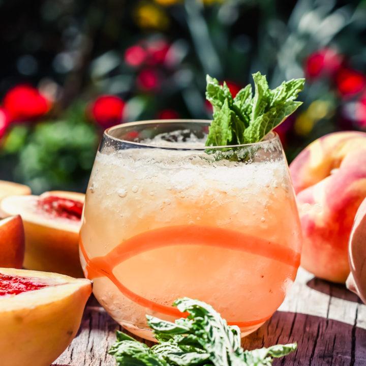 Peach Whiskey Smash Recipe