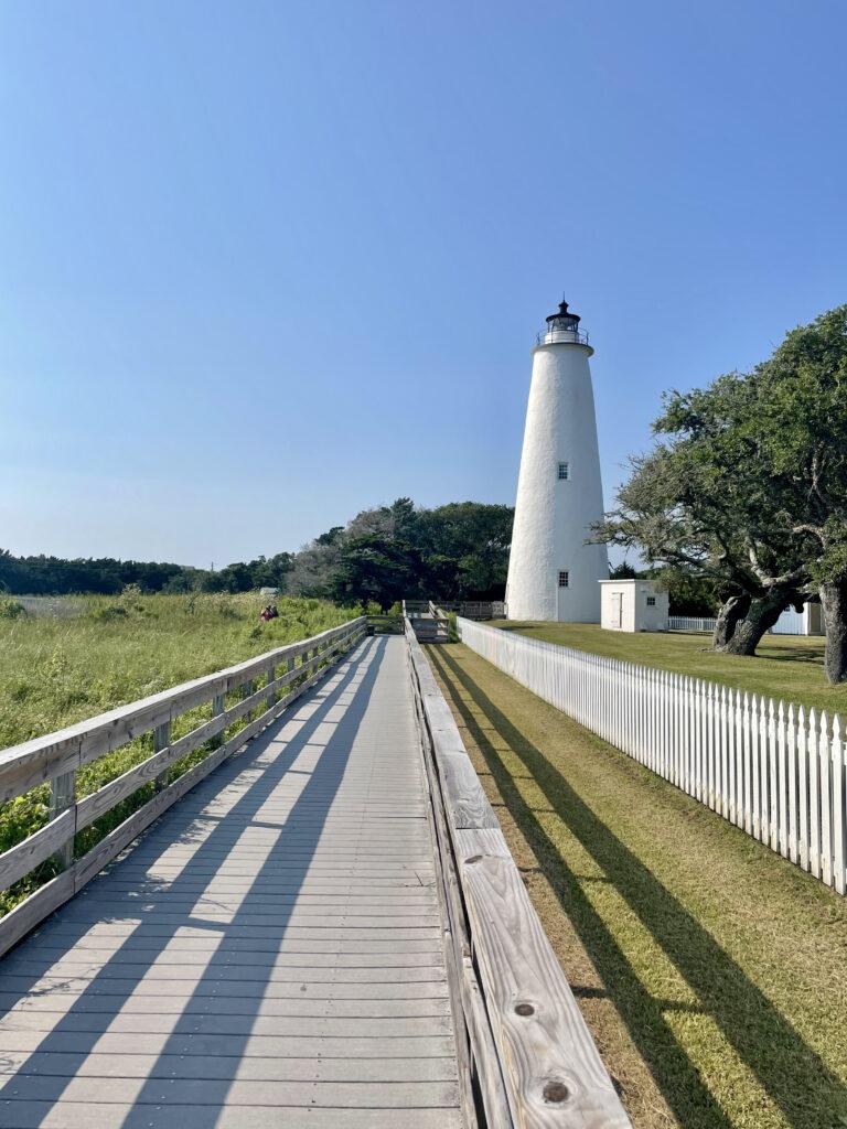 walking path to ocracoke lighthouse
