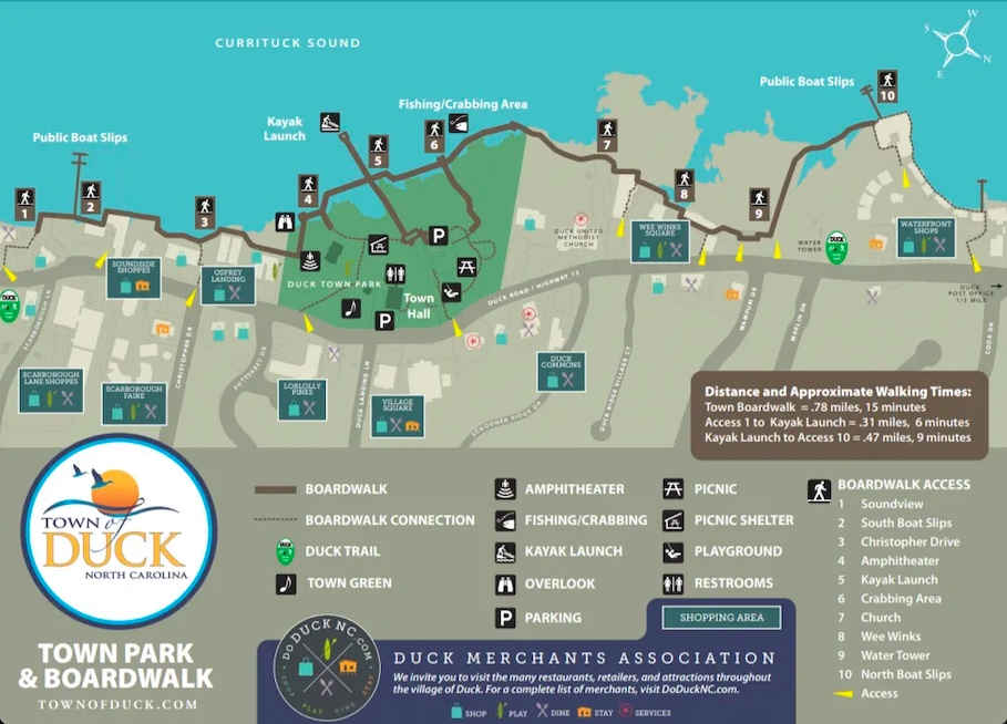 map of duck town park and duck trail